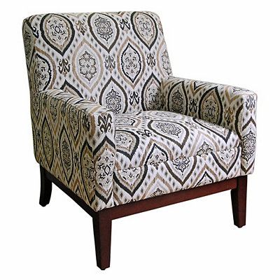 Gray Medallion Accent Chair