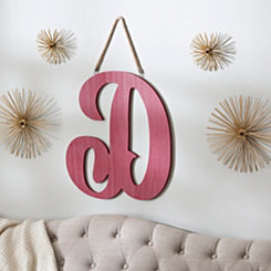 Red Script Beadboard Monogram Wooden Plaques