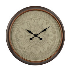 Engraved Cream Preston Wall Clock