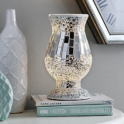 Silver Crushed Mosaic Uplight