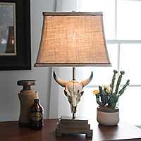Cattle Skull Table Lamp