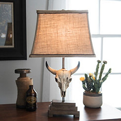 Cattle Skull Table Lamp