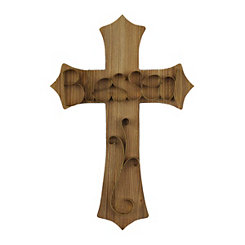 Blessed Wooden Scrolled Cross