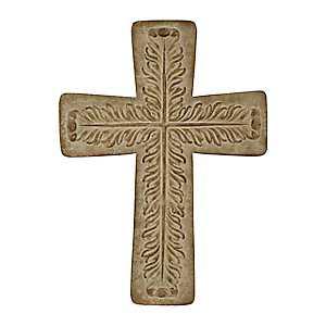 Brown Washed Metal Embossed Cross
