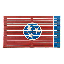 Slatted Wood Tennessee Flag Plaque