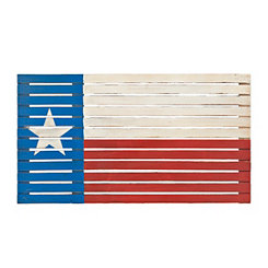 Slatted Wood Lone Star Flag Plaque