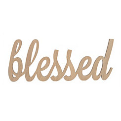 Blessed Script Word Art Plaque