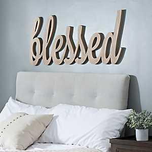 Blessed Script Word Art Plaque