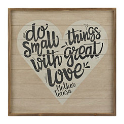 Small Things with Great Love Wooden Wall Plaque