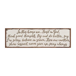 In This House Wooden Wall Plaque