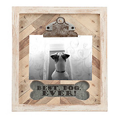 Best Dog Ever Galvanized Wood Clip Frame