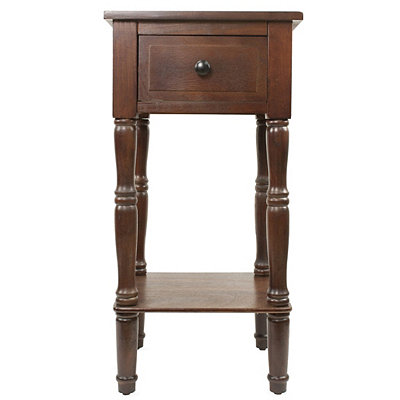Walnut Simplify 1-Drawer Accent Table