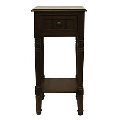 Brown Simplify 1-Drawer Accent Table