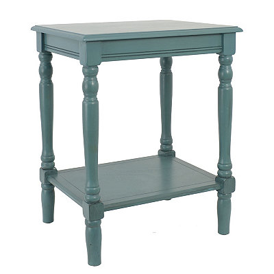 Blue Simplify End Table