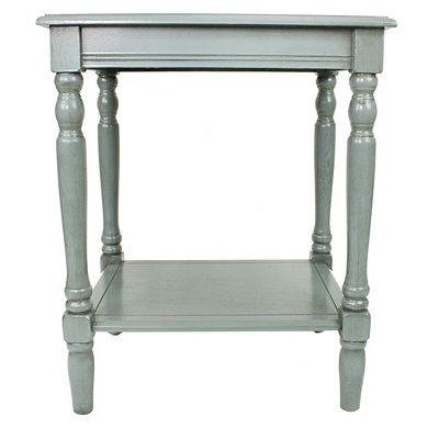 Antique Ice Blue Simplify End Table