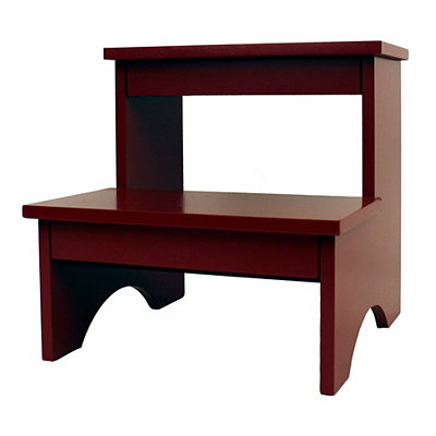 Red Wooden Step Stool