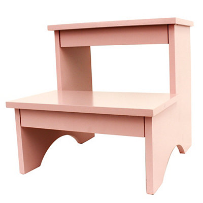 Pink Wooden Step Stool