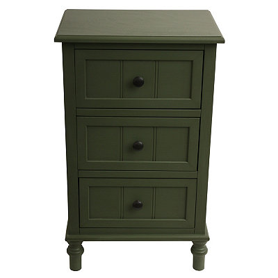 Green 3-Drawer Wooden Chest