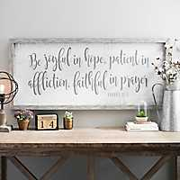 Be Joyful Wooden Wall Plaque
