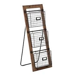 Wireframe Basket Magazine Stand