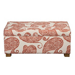 Paisley Print Storage Bench