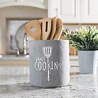 What's Cookin Cement Utensil Holder