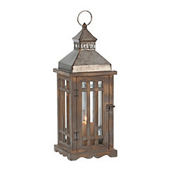 Barred Wood and Metal Lantern
