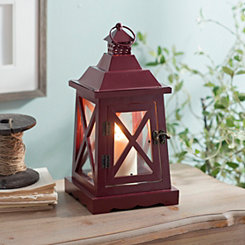 Red Wood and Metal Lantern