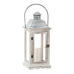 Weathered Wood and Metal Lantern