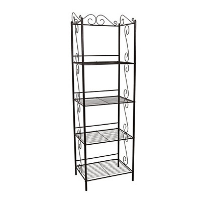 Copper Metal Scroll Etagere Bookcase