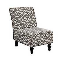 Brown Bell Slipper Chair
