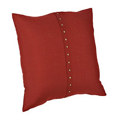 Paulie Red Button Pillow