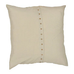 Paulie Oatmeal Button Pillow