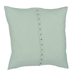Paulie Aqua Button Pillow