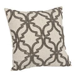Natural Beaded Kanya Pillow