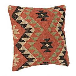 Celine Orange Aztec Pillow
