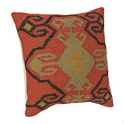 Lena Orange Aztec Pillow