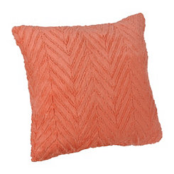 Pink Herringbone Faux Fur Pillow