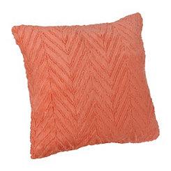 Pink Herringbone Faux Fur Pillow