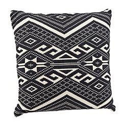 Black Woven Aztec Pillow