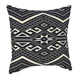 Navy Woven Aztec Pillow