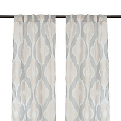 Colette Quatrefoil Curtain Panel Set, 84 in.