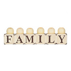 Cream Family Candle Runner