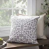 Aztlan Gray Pillow
