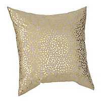 Gold Anu Foil Dot Pillow