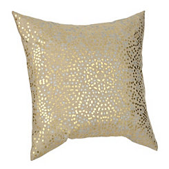 Gold Anu Foil Dot Pillow