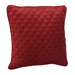 Red Velvet Quilted Pillow