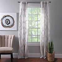 Colette Quatrefoil Curtain Panel Set