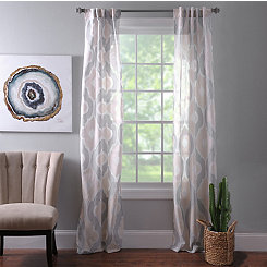 Colette Quatrefoil Curtain Panel Set. 96 in.