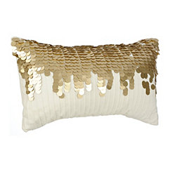 Gold Waterfall Sequin Pillow